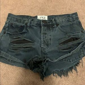One by Free People Jean shorts